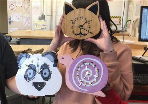 Students Design Clocks