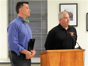 Jeff Rudzinksy Athletic Director received President's Award of Merit