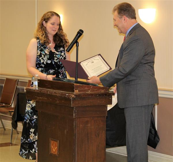 Megan Fenneuff, Honored as Teacher of the Year