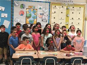 Jaworek Third Graders Participate in Red Nose Day