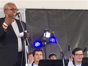 Musicans perform at Newport Jazz Festival