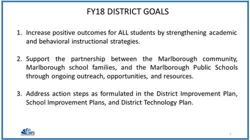 FY18 District Goals