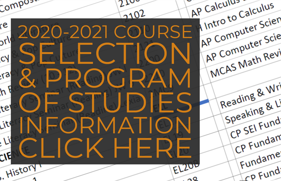 2020 Course Selection and Program of Studies Information