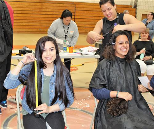 Marlborough High School Students Donate their Locks to Help Children with Hair Loss