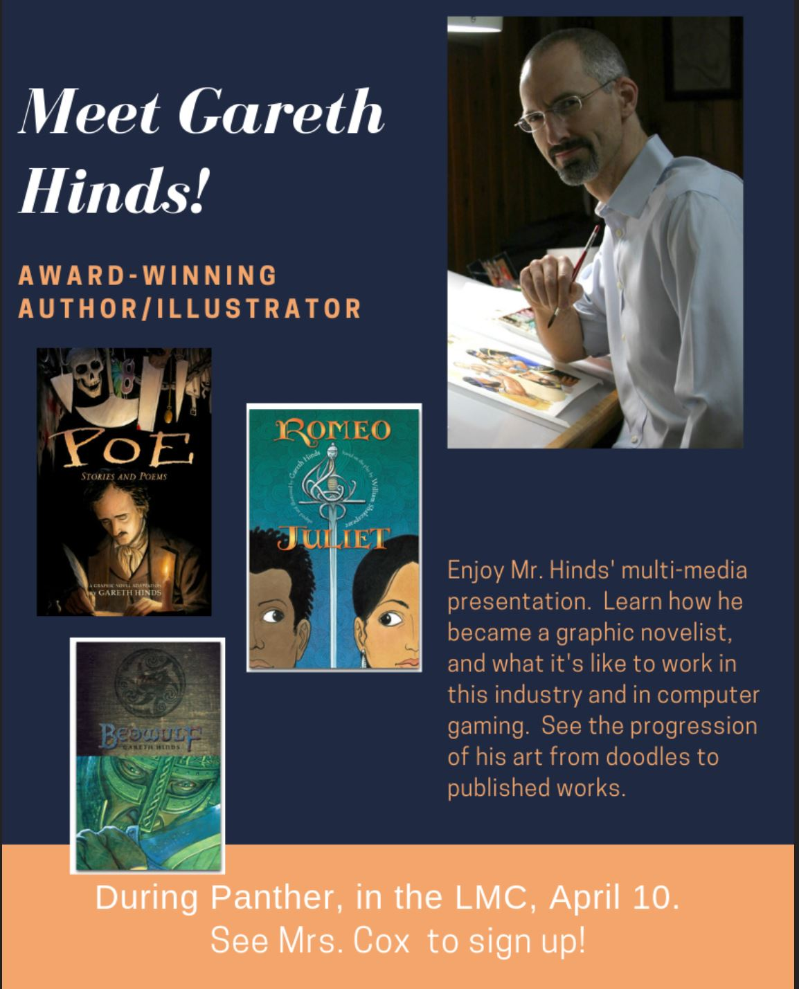 Meet author Gareth Hinds