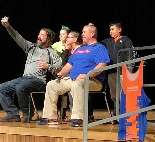 Mr. Lacina Shaves Head for Cancer Awareness