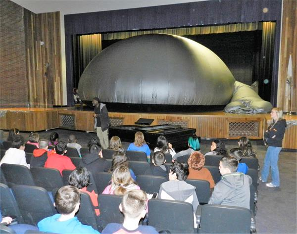 SkyDome Planetarium in Whitcomb Auditorium