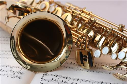 Saxophone with Sheet Music